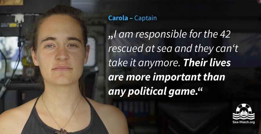 Sea Watch attracca a Lampedusa, capitana arrestata