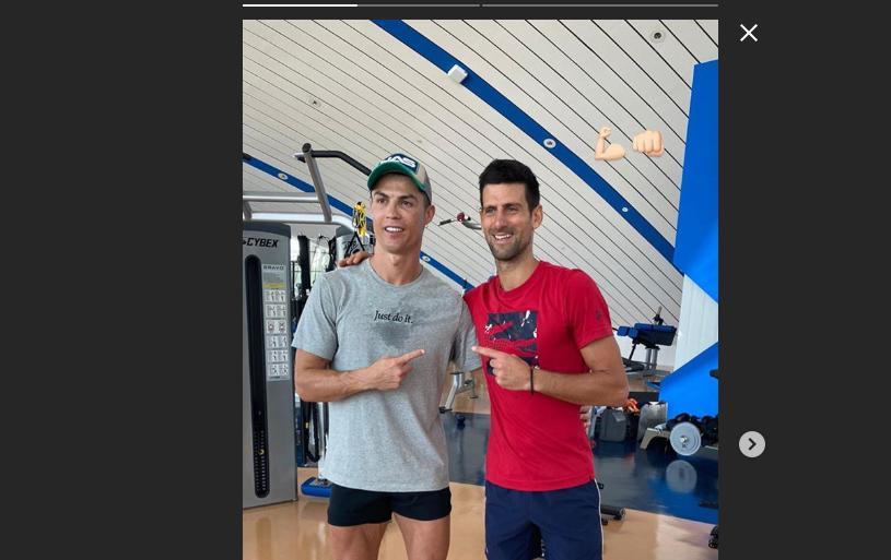 Instancabile Cristiano Ronaldo: in vacanza insegna a Djokovic a colpire di testa