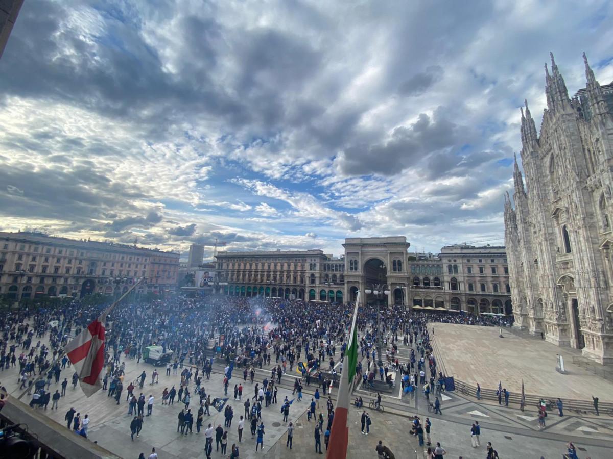 A Milano la festa dei tifosi dell'Inter